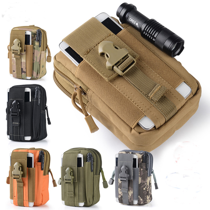 Orderly Outdoor Army Tactical Waist Belt Phone Bag For Lanix Ilium X210 X220 X520 X510 X710 L610 X400 X200 X500 Lt520 L1120 L950 L910 Aromatic Character And Agreeable Taste Phone Bags & Cases