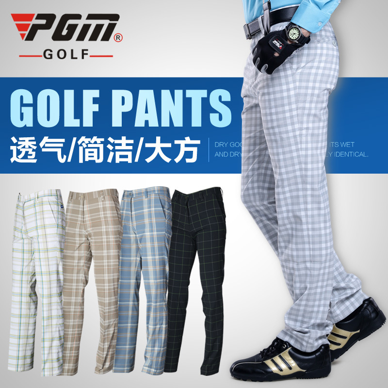 ФОТО PGM direct Golf pants men's trousers Golf clothing light breathable summer models special offer wholesale