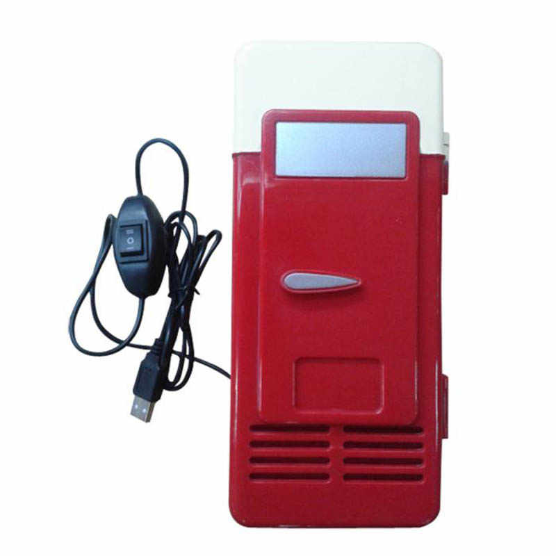 desktop Mini fridge freezer USB heater cooler Refrigerator USB Fridge car Cooler Gadget Beverage Drink Cans Cooler & Warmer