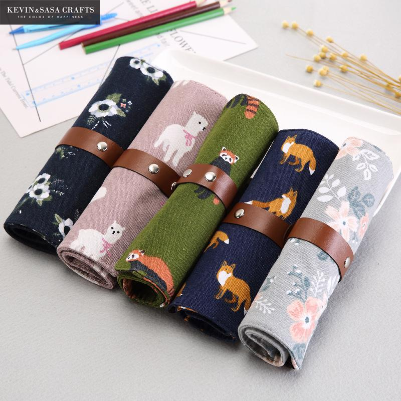 Canvas Pencil Case Quality Fabric School Supplies Bts Stationery Gift Pencilcase School Cute Pencil Box School Tools Pencil Bag fish pencil case super fabric school supplies bts stationery gift school cute pencil box pencilcase pencil bag school supply