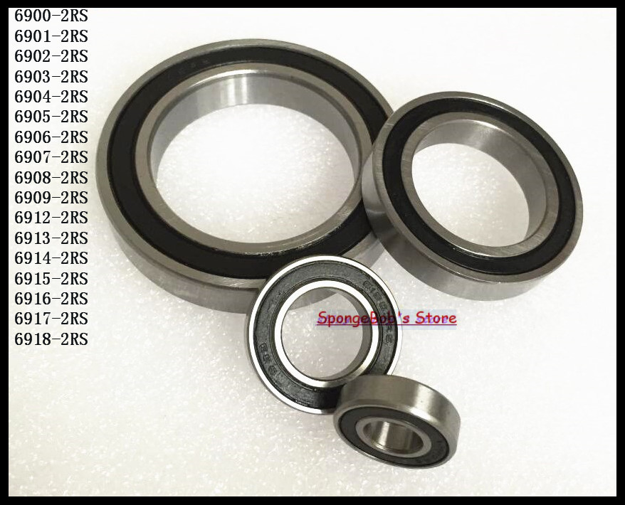 1pcs 6916-2RS 6916 RS 80x110x16mm Rubber Sealed Deep Groove Ball Bearing Miniature Bearing 1pc 6217 2rs 6217rs rubber sealed ball bearing 85 x 150 x 28mm