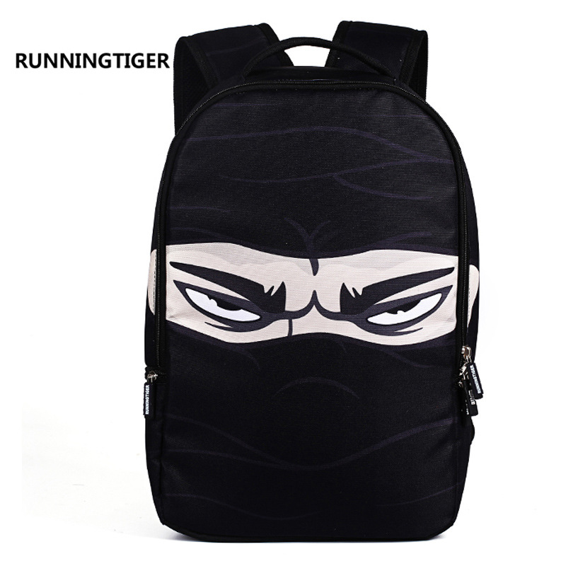 Game Over Backpack for Men Fashion Ninja Dollar Tide Brand Canvas School Bags for Boys Middle School Students Laptop Backpack