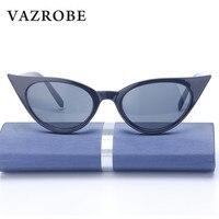 Vazrobe Cheap Sunglasses Cat S Eye Women Small Big Size Vintage Retro Black Cat Eye Sun