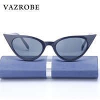 Vazrobe Cheap Sunglasses Cat S Eye Women Small Big Size Vintage Retro Black Cat Eye Sun
