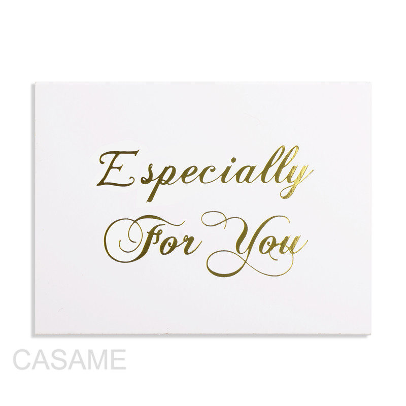 48pcs Mini Gold Embossed Thank you Card Valentine Happy