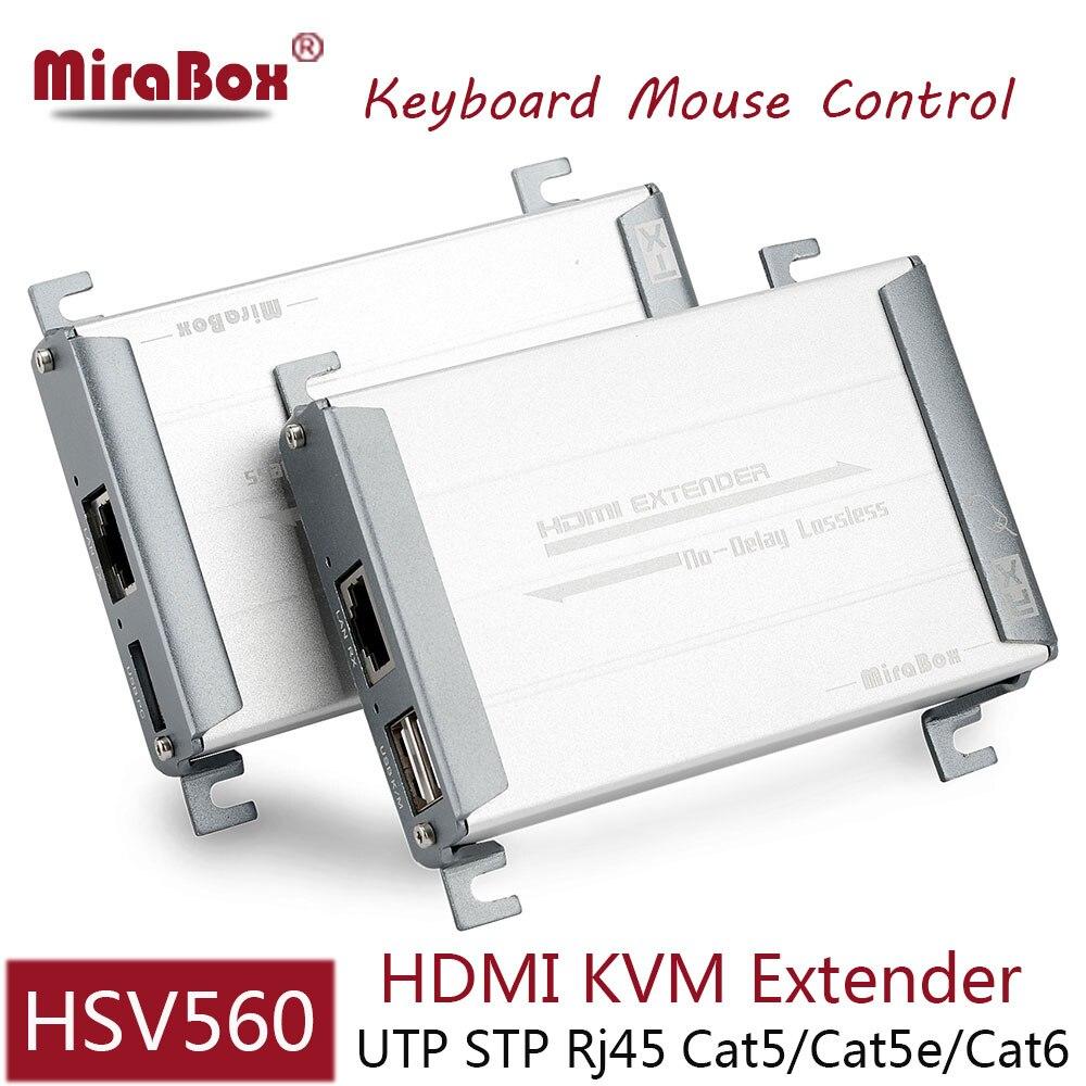 HSV560 HDMI USB Extender avec clavier souris contrôle 80 m HDMI KVM Extender sur UTP Cat5/5e/Cat6 réseau par Rj45 Ethernet