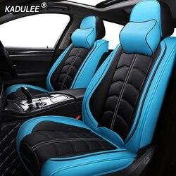 KADULEE luxe lederen auto stoelhoezen voor Renault logan sandero talisman trafic laguna megane sceni autostoeltjes Protector Auto