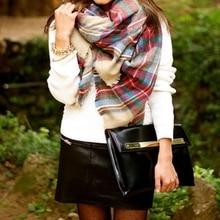 Za winter scarf 2016 women Tartan Plaid Scarf Desigual Scarf cuadros New Designer Unisex Basic Acrylic Shawls hot bufandas