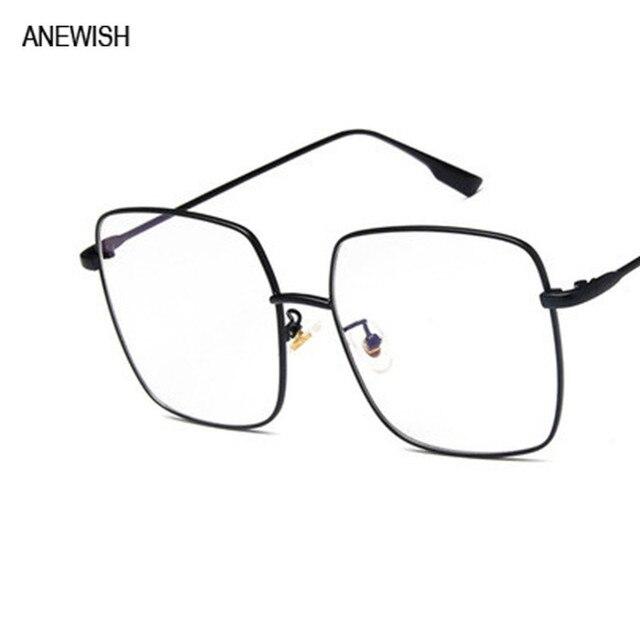 b14e6d83beb61 Moda de Rua Grande Quadrado Preto óculos de Quadros para as mulheres  transparentes lentes para óculos