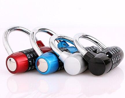4 colors code password lock 5 Letter Code Combination Suitcase lock digit password locks padlock three digit password lock