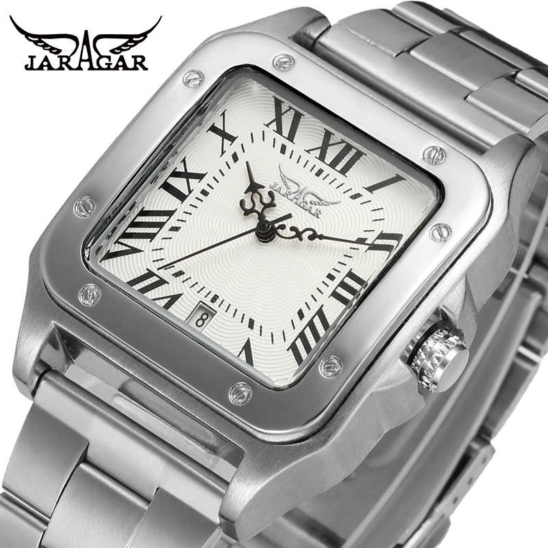2017 Luxury Casual Square Dial Watches Men Mechanical Watch Classic Brand Tank Wristwatch Automatic Male Day Watch Fashion jaragr fashion square dial men s day month automatic mechanical watch reloj male wristwatch montre homme