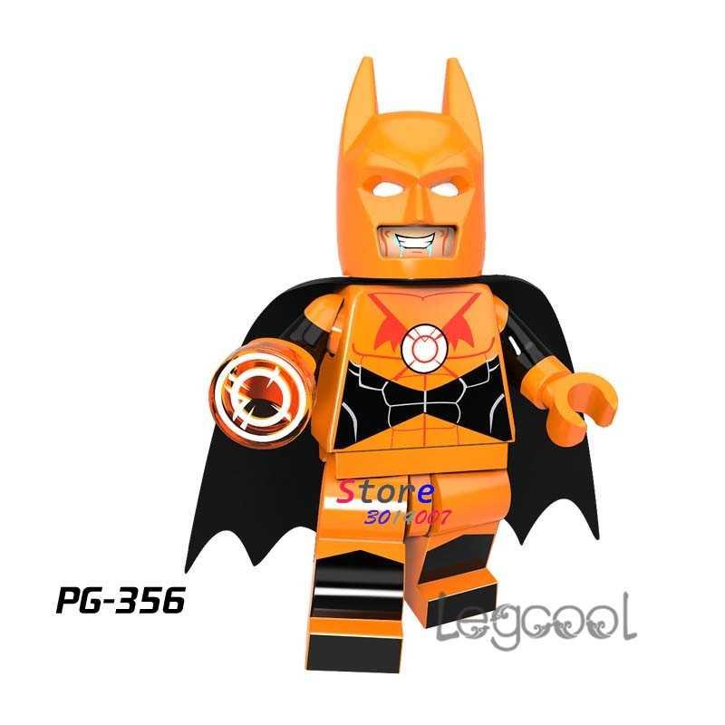 1PCS model building blocks action   superheroes Orange Lantern Batman Collection dolls diy toys for children gift