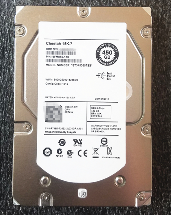 все цены на new and original for 450G SAS 15K 3.5inch ST3450857SS 0R749K 3 year warranty онлайн
