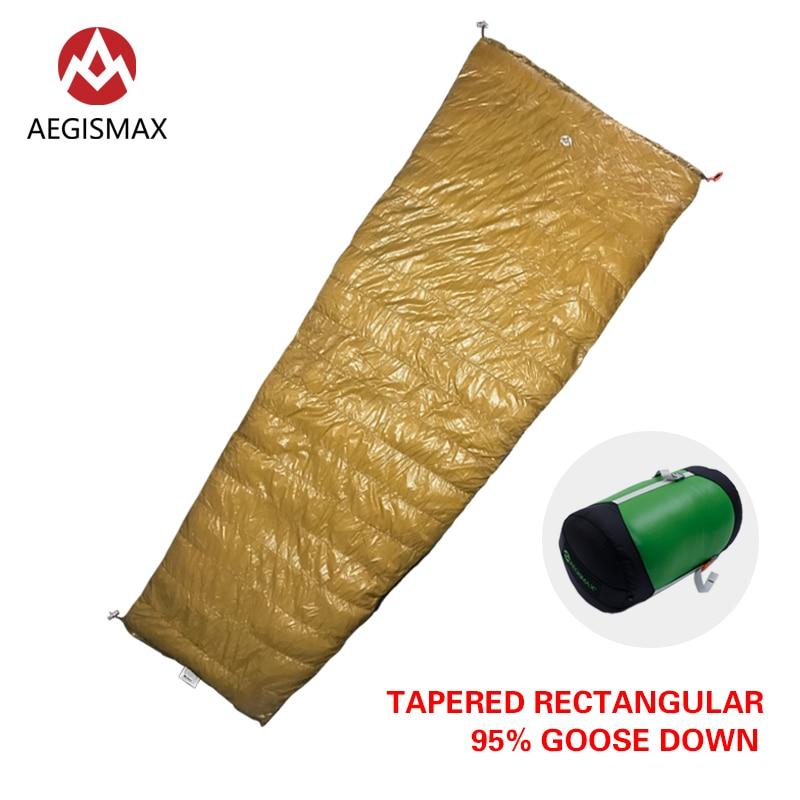 AEGISMAX Outdoor Camping LIGHT 95% Goose Down Envelope Sleeping Bag Three-Season Down Lengthened Adult Nylon Spring Sleeping Bag aegismax 95