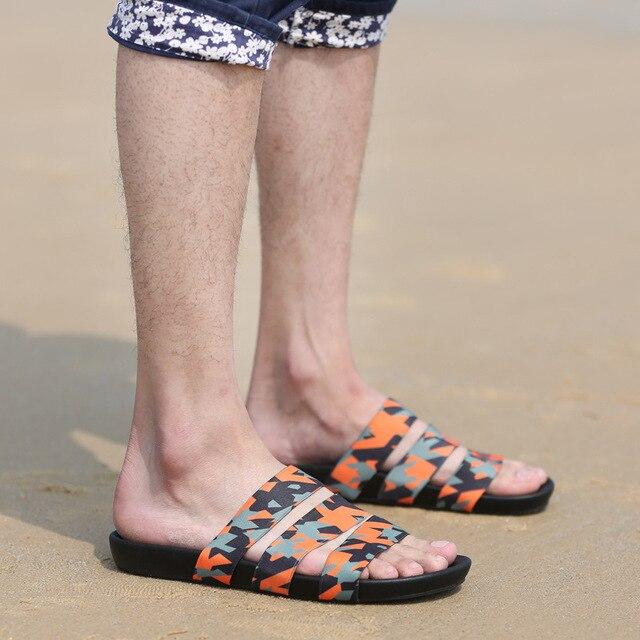 DreamShining Moda Verano Estilo Coreano Masculino Marea Zapatillas Sandalias de La Manera de Los Hombres Thong Sandalias Casuales Antideslizantes Tamaño 39-44
