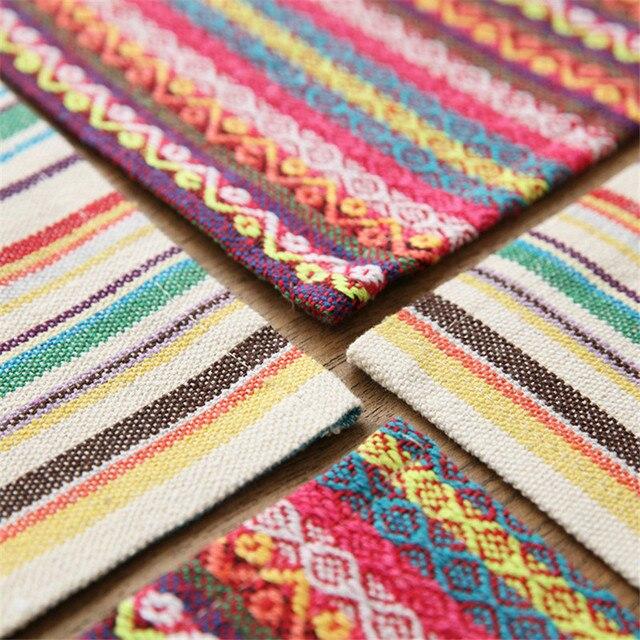 Богемия стиль полосой свадьба ткань салфетки льняные полотенца на ужин Главная партии Ресторан отеля