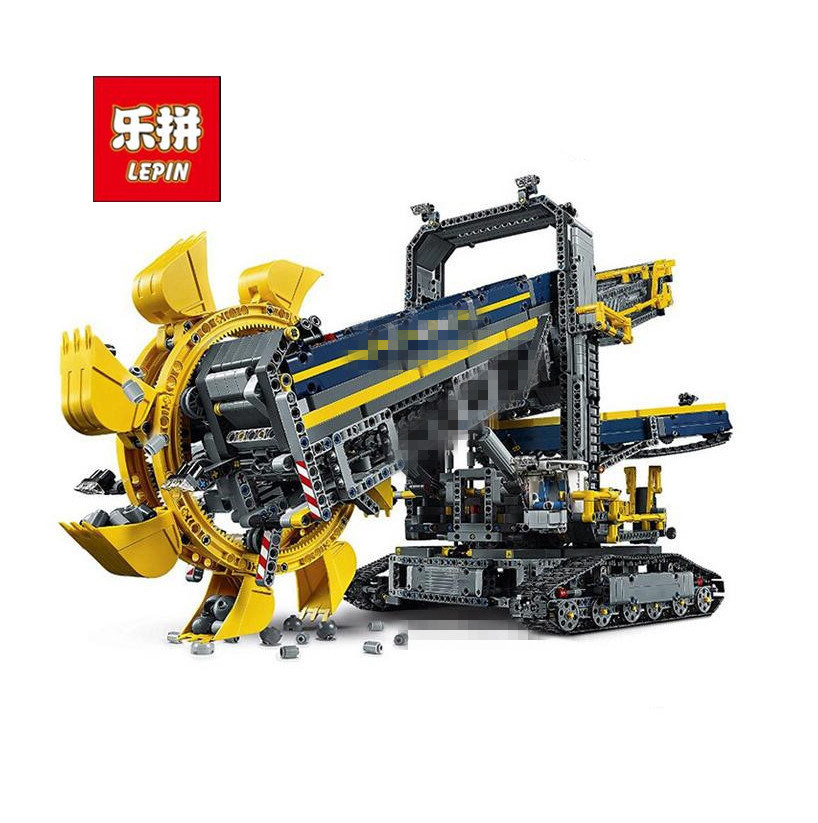 LEPIN Technic 20015 3929Pcs Bucket Wheel Excavator Model Building Kits Blocks Brick Toy Gift for children Compatible with 42055 lepin 22001 pirate ship imperial warships model building kits blocks 1717pcs brick toy compatible with lepin 10210