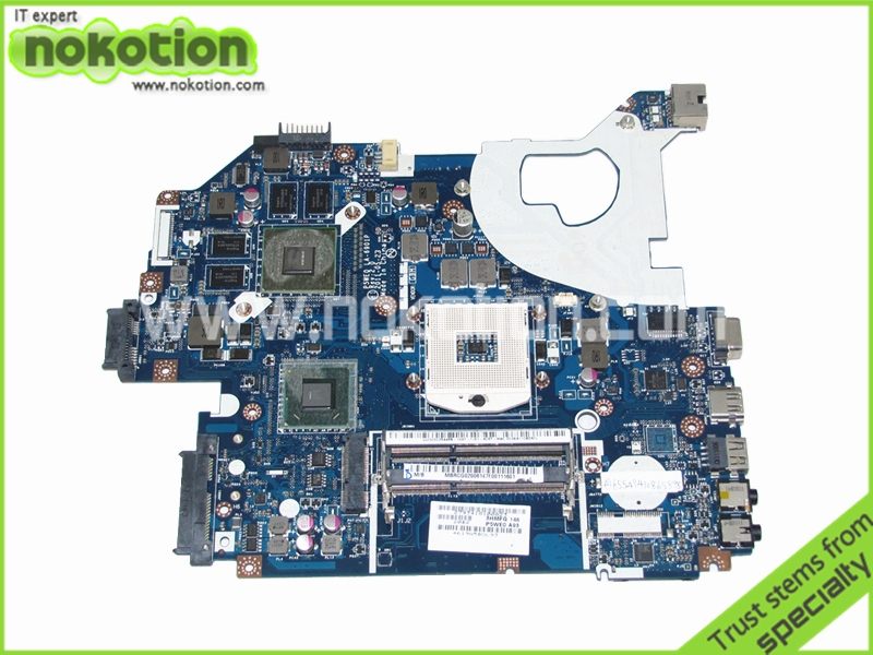 MBRCG02006 P5WE0 LA-6901P Laptop motherboard for Acer Aspire 5750 5750G MB.RCG02.006 DDR3 GT540M Mainboard Full Tested nbmny11002 nb mny11 002 for acer aspire e5 511 laptop motherboard z5wal la b211p n2940 cpu ddr3l