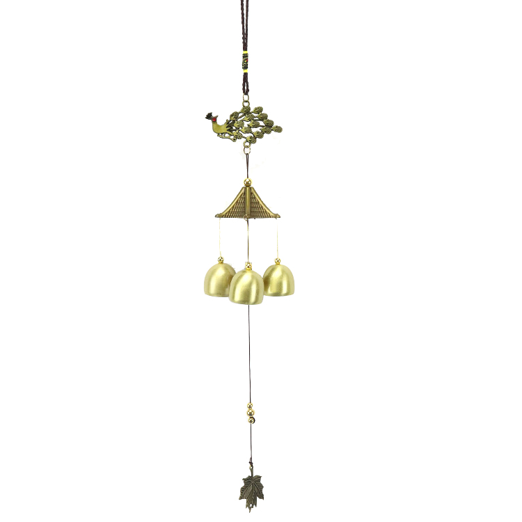 Pendant Elephant 6 Bells Wind Chime Chinese Knot Beads Garden Hanging Decor