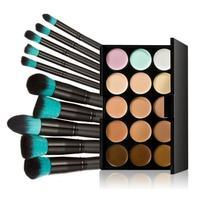 Focallure 10pcs Makeup Brushes Set Powder Foundation Eyeshadow Tool 15 Colors Concealer Jan23 P30 Dropshipping