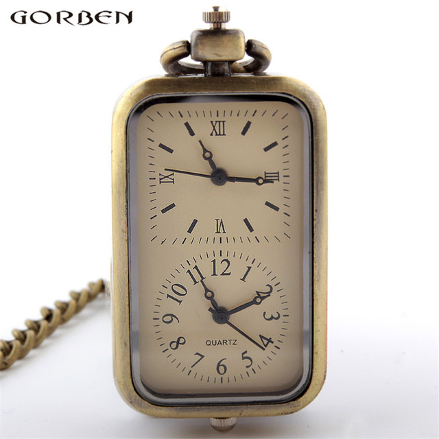 2017 Gorben watch fashion design double time small pocket watch women men exquis
