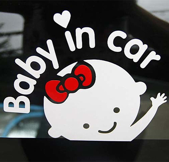 2017 Baby In Car Styling Stickers Funny Girl And Boy Auto Sticker Decal Accessories for  ...