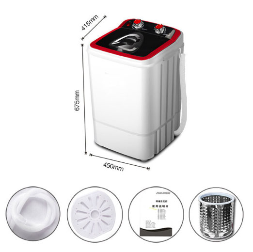 Household mini wash machine single-barrel dehydration dry children semi-automatic  Removable stainless steel tumble dry bucketHousehold mini wash machine single-barrel dehydration dry children semi-automatic  Removable stainless steel tumble dry bucket