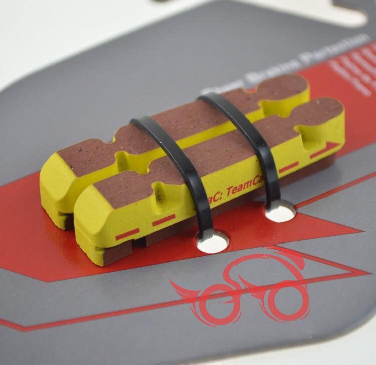 1 paar Premier elastomer verbindung speziell für carbon felge verwenden Sattel Einsätze, professionelle Carbon + kork Verbindung bremsbeläge