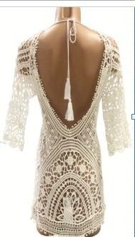 Knit Backless Bikini Cover Ups Beachwear 3