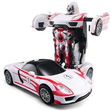 Бесплатная Доставка Гоночный Автомобиль Модели Деформации Робот Трансформации Дистанционного Управления RC Car Toys для Детей Рождественский Подарок TT672