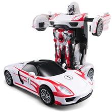 Envío libre modelos de transformación robot deformación coche de control remoto rc racing car toys regalo de navidad para niños tt672