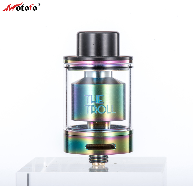 все цены на Original WOTOFO The Troll RTA Atomizer 5ml Huge Juice Capacity 24MM Diameter Tank Top Filling Rebuildable RTA Vape Tank Diy Kit онлайн