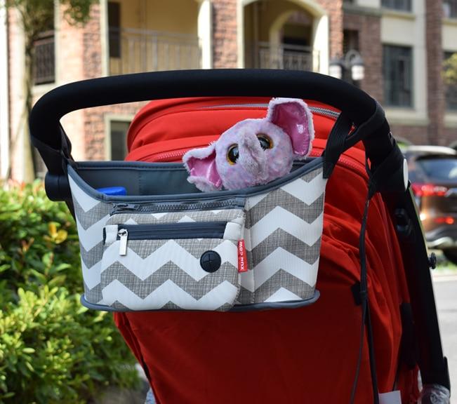 Baby Stroller bag Nappy Diaper mummy bag carriage hanging basket storage organizer travel Feeding Bottle Stroller Accessories