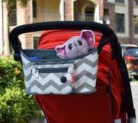 Saco de carrinho de bebê fralda múmia saco de transporte pendurado cesta de armazenamento organizador viagem alimentação garrafa carrinho de criança acessórios
