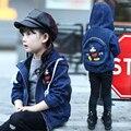 2017 New Girls Autumn Winter Coat Children's Jacket Denim Girls Jean Jackets Kids Clothing Baby Mini Mouse Coat Casual Outerwear