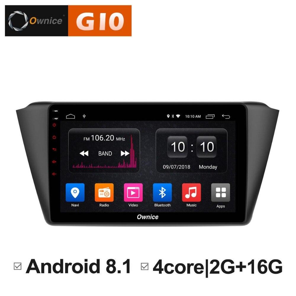 HD 9 pouces 2 GB RAM + 16 GB ROM Android 8.1 Quad 4 Core lecteur DVD de voiture pour Skoda Fabia 2015 2016 GPS Navigation Radio stéréo TPM
