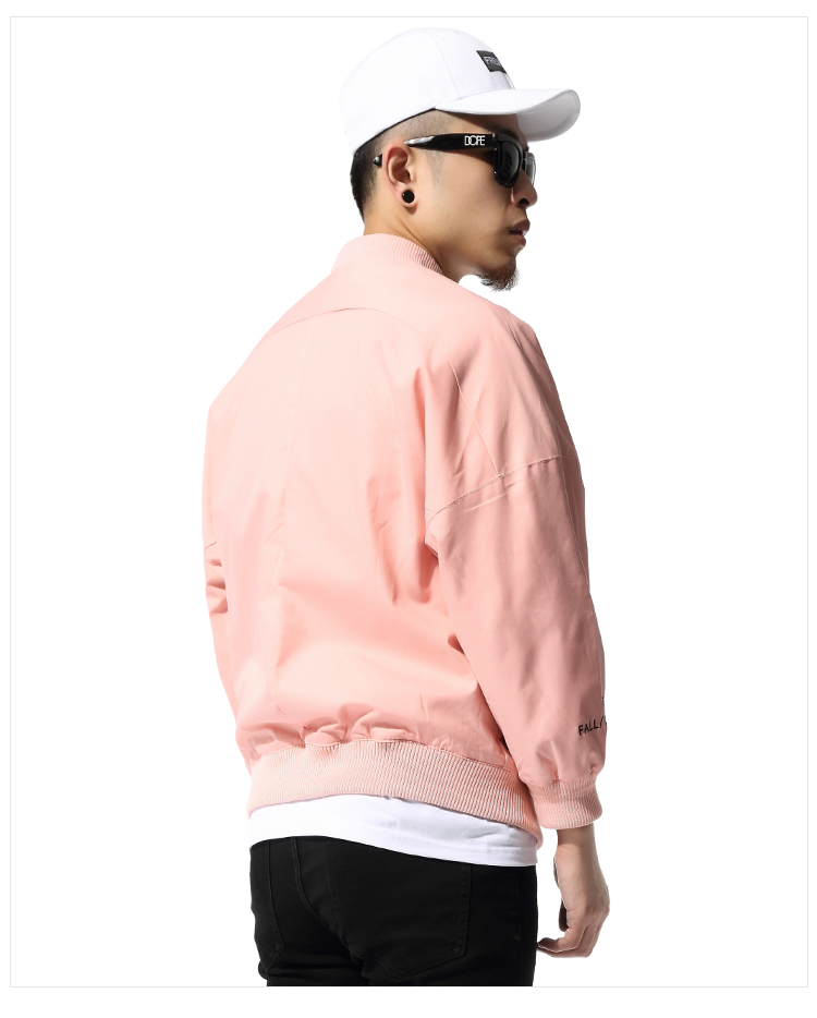 Aliexpress.com : Buy Pink Jacket Men Hip Hop Loose Bomber Jacket ...