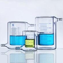 Verdicken Doppel Schicht Wärme beständig Glas Becher Foto katalytische Reaktor Photokatalytischen sendete Labor Ausrüstung
