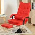 Computador pode colocar cadeira de escritório de alta qualidade capaz de levantar e girando com um pé cadeira de escritório em casa plana lazer