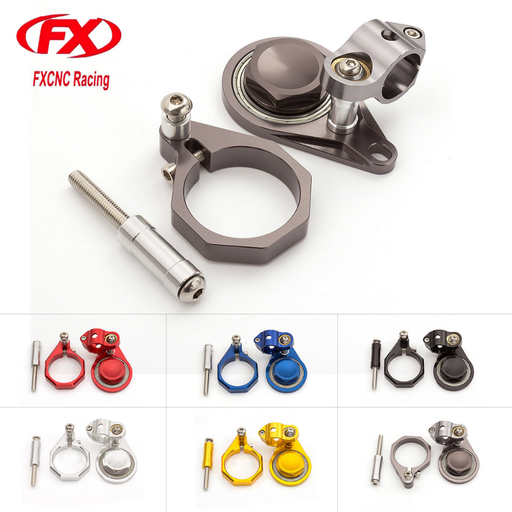 CNC Motorcycle Advailable Steering Stabilize Damper Bracket Mounting Kit For SUZUKI GSXR600 GSXR 600 GSX R600 2006 - 2010 06 07 new billet aluminum steering damper with bracket for suzuki gsxr600 gsx r600 gsxr750 gsx r750 2004 2005 titanium