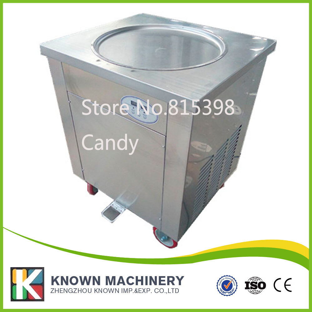 900w temperature display high efficiency as well as top sale fried ice cream machine with one flat pan flat 900