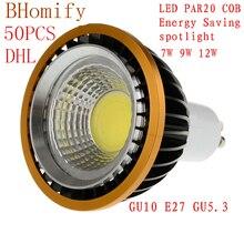 цена на LED Spotlights COB spot PAR20 Bulb 220V 110V dimmable GU10 GU5.3 E27 7W 9W 12W bulb LED Lamps Warm/Pure/Cold White Spot light