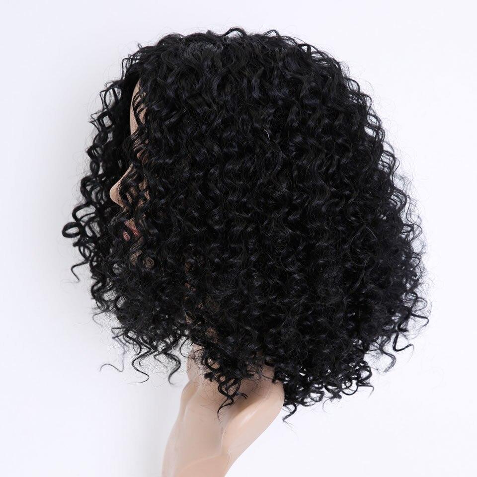 SHANGKE HAIR Afro Kinky Wig Curly Syntetiska Paryk För Kvinnor - Syntetiskt hår - Foto 3