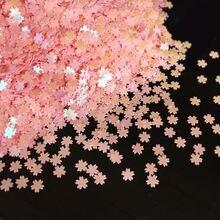 5mm Blume Pailletten Nail art Glitter Maniküre Süße Kirsche Blossom Schmuck Füllung Pailletten für DIY Karte Machen Handwerk Konfetti