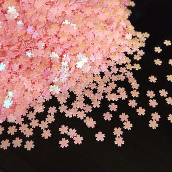 5mm kwiat cekiny Nail Art Glitter Manicure słodki kwiat wiśni biżuteria wypełnienie Paillettes dla karta DIY Making rzemiosło konfetti tanie i dobre opinie LNHOME CN (pochodzenie) 6mm 0 1mm Torby Buty Odzieży Odporność na ciepło Ekologiczne Odporność na ścieranie Bez zniekształceń