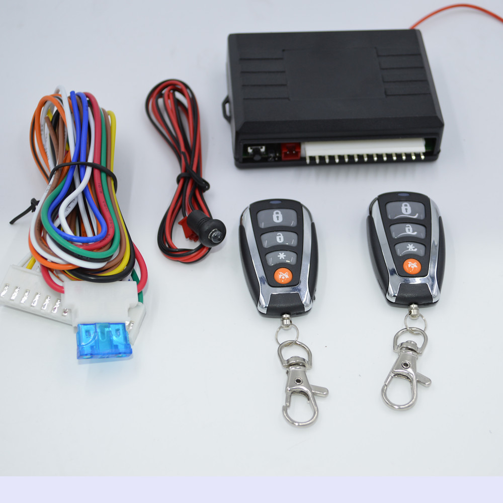 12V Universal Remote Central Door Locking Car Keyless Entry System Remote Trunk Release & Power Window Output Car Alarm System