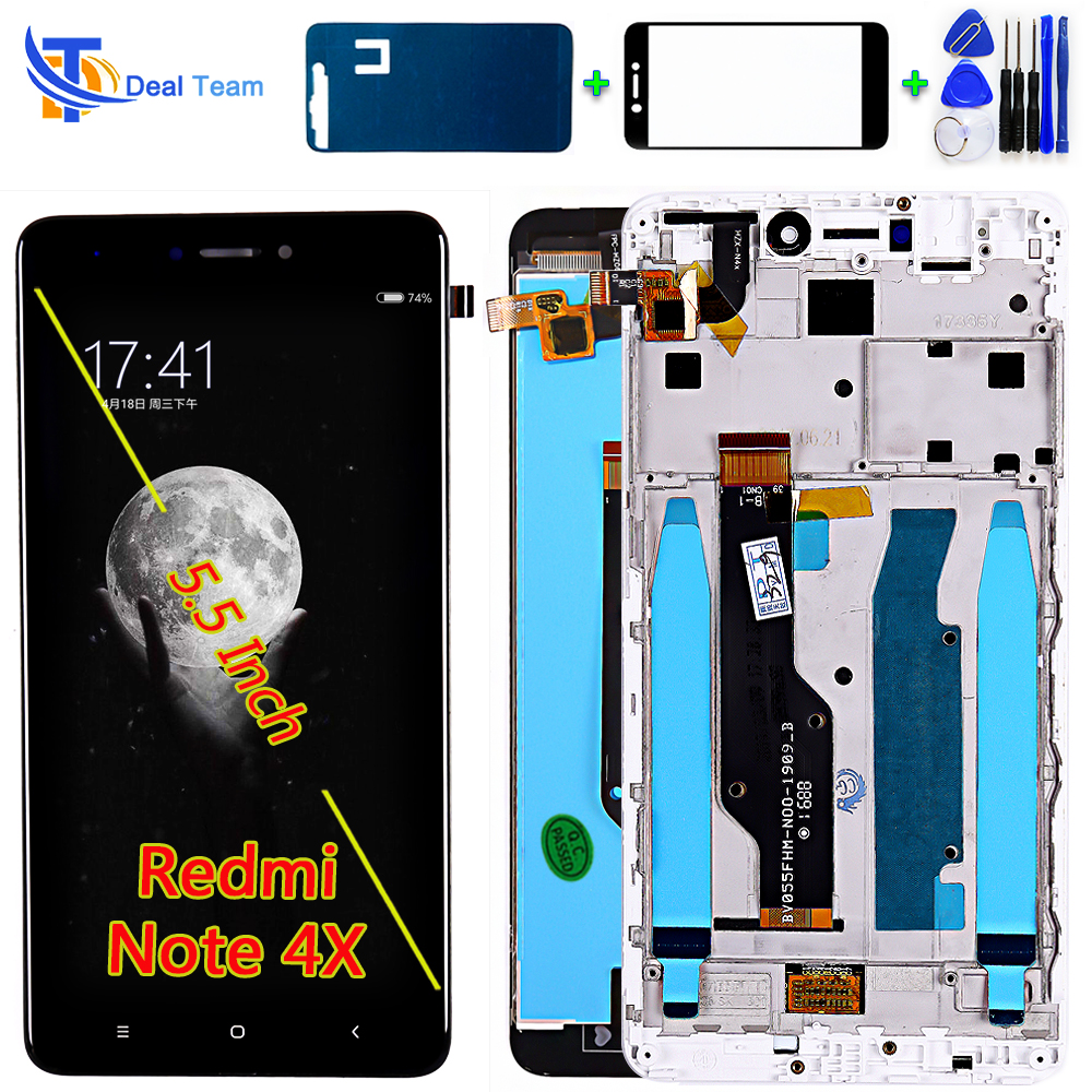 LCD display For Xiaomi Redmi Note 4X / Note 4 Global (CPU:Snapdragon 625) touch screen digitizer assembly Frame with Free Tools(China)