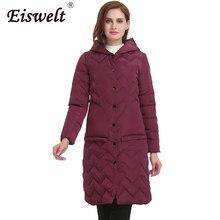 Ukraine Big Sizes Hooded Women Down Jackets Warm Medium-long Cotton Padded Down Parka Women Coats Plaid Back Outwear
