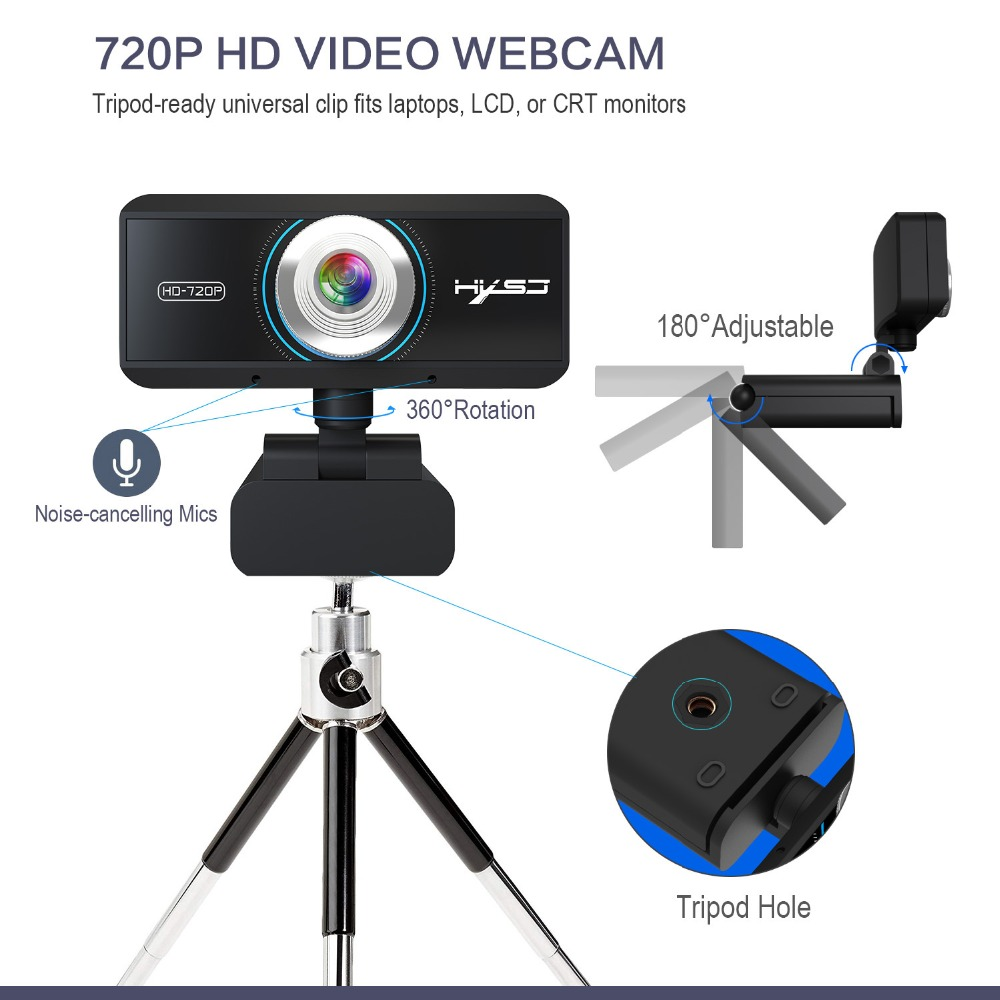 USB 3 0 2 0 Web Camera hd 780P with Microphone Computer Camera for Android  Smart TVs Skype Camera Youtuber Use Web Cam Webcams