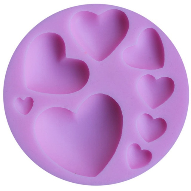 Heart Silicone Soap Mold